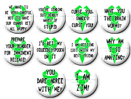 More Zim Buttons by Fangirls-Trilogy