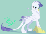 Rarity Griffon by FarewellDecency