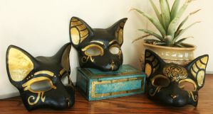 Cat Masks Everywhere by nondecaf