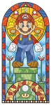 Mario stained glass window by pikajane