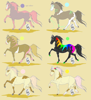 Horse adoptables *PRICE REDUCED// TWO LEFT* by CatcherOfDreamss