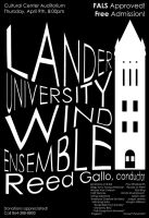 Wind Ensemble Poster Design by Lightsfire