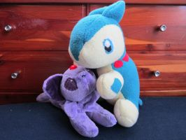 Kindle and Sam plushies by DragonwolfRooke