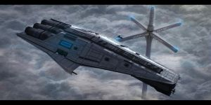Star Wars Mandalorian Cruiser by AdamKop