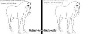 Mulan Style Horse Template by CookieCannibleSofiel