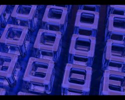 Blue Cubes by Warma