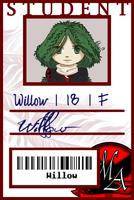 Willow - Student ID by silver-dragonetsu