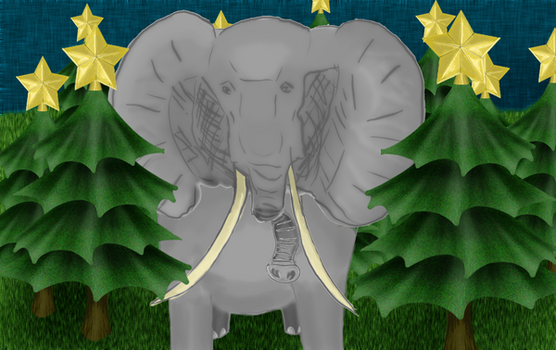 Elephant's Christmasforest by Ashol