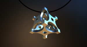22mm Cubic Pendant on Shapeways by nic022