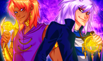 Yami Bakura and Marik by AngelLust155