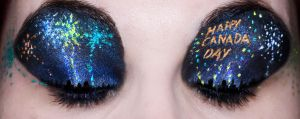 Canada Day Eyes by KatieAlves