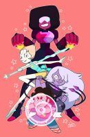 We are the Crystal Gems! by AnimaProject