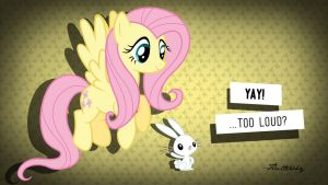 Fluttershy wallpaper by VeryGood91