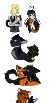 MIraculous Cats Sketch Dump #2 by Colourstrike