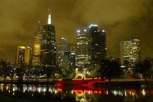 Melbourne - City with sculpture by livenover