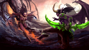 Kerrigan vs Illidan - Heroes Of The Storm by staxandy