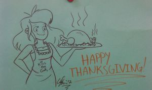 Super Quick Early Thanksgiving Doodle by GusDraws