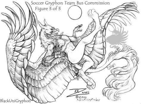 Soccer Gryphon 3 of 3 Comision by BlackUniGryphon