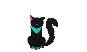 First digital art - Black Cat by LonlyAntelope