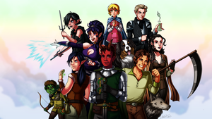 Dungeons and Dragons Campaign 4 Group Shot by Otakatt