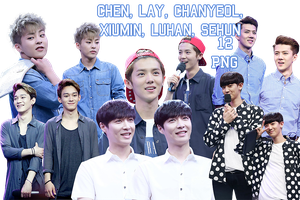 EXO's PNG Pack {Happy Camp 2014} by kamjong-kai