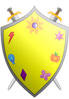 Knights of Harmony Shield and Arms II by Fyre-Medi