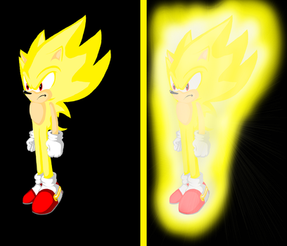 Super Sonic Test -- New Coloring and Drawing Style by Jason-de-LEpee
