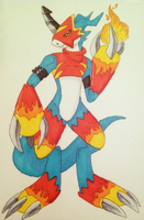Flamedramon by Noxx-ious