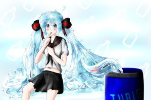 Bottle Miku by faTWave