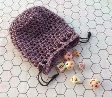 Pink dice bag by silverfaction