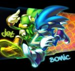 +Zero Gravity+ Sonic and Jet by dou-hong