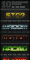 10  Photoshop Text Styles by survivorcz