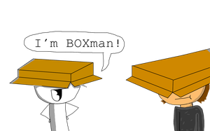 Box Men. (Art Trade with Colorfulcuttlefish.) by BBCIGaming