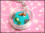 Koi Pond Necklace by GrandmaThunderpants