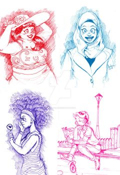 Women sketches by ThePandamis