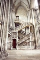 Stairs at Rouen Cathedral by lostie815