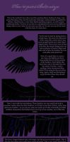 How to paint black wings by Enamorte