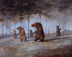 The Bear Hunt by whiteflyinglizard