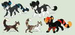 more adoptables yay by Chargay