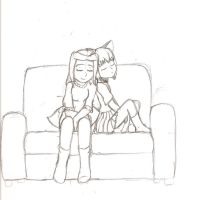 My Girls 2, Neige and Hira (WIP) by TamaeFTT