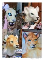 Fursuit head by OmegaLioness