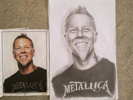 RETRATO REALISTA: JAMES HETFIELD by H3cT0r-Dibujos