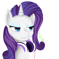 Rarity's Headphones by Winterrrr