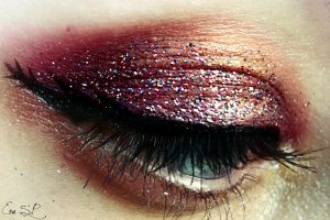 Girl on Fire Halloween Makeup by Chuchy5
