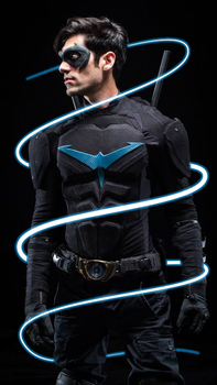 Nightwing Glowing Lines - Photoshop Edit by Maddy-The-Proxy