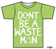 "Green ""Wasteman"" Tee by Jordan-Austin"