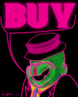 Neon Capitalist Pig by picklenation