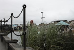 View From The Queue (Dismaland) by LauraElizabethTS
