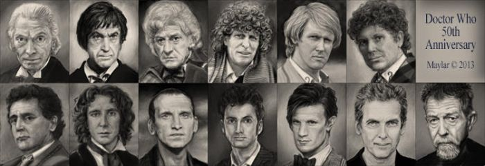 River Song Diary 50th Anniversary portraits alone by Maylar