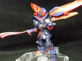 Master gundam 1/144th, random pose by forever-at-peace